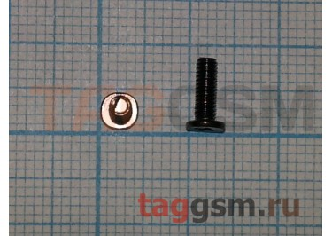Винт для ноутбука 2,5х7,5-4,0 с плоской цилиндрической головкой (комплект 10шт)