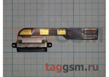 Шлейф для iPad 2 + разъем зарядки (черный)