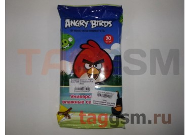 Салфетки влажные Angry Birds №30 универсальные 30шт.