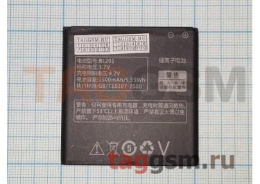 Акб для Lenovo A60+ (BL201) 1500mAh (техпак), оригинал