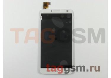 Дисплей для Alcatel OT-6037y Idol 2 + тачскрин (белый)