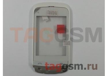 Тачскрин для Nokia C2-03 / C2-02 / C2-06 / C2-07 / C2-08 (белый) в раме с клавиатурой и динамиком, оригинал