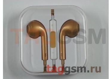 Гарнитура стерео для iPhone 5 золото