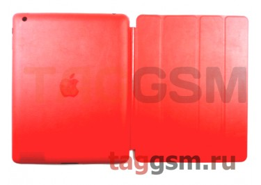 Сумка футляр-книга Smart Case для Apple iPad 2 / 3 / 4 без логотипа (красная)