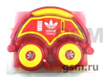Гарнитура Adidas AD-113 полноразмерная красно-желтая