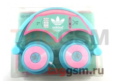 Гарнитура Adidas AD-113 полноразмерная бирюзово-розовая