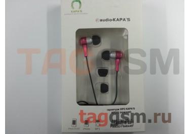 гарнитура MP3 KAPA'S  KP300 (красная)