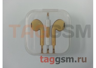 Гарнитура стерео для iPhone 5 бежевая