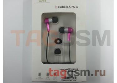 гарнитура MP3 KAPA'S  KP300 (розовая)