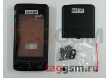 Корпус LG KP500 + тачскрин (черный) ориг