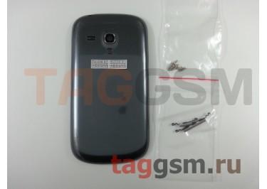 Корпус Samsung i8190 Galaxy S3 mini (задняя крышка + средняя часть + винты) (серый) ОРИГ100%
