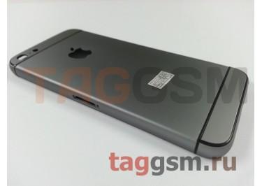 Задняя крышка для iPhone 5 (черный) (дизайн iPhone 6)