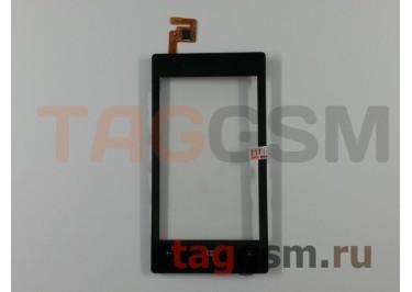 Тачскрин для Nokia 520 / 525 (черный) с рамкой, ориг