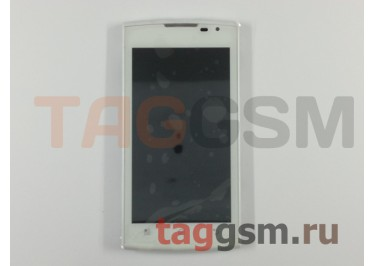 Дисплей для Prestigio MultiPhone 4500 DUO + тачскрин (белый), ориг