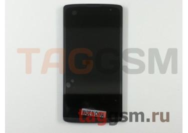 Дисплей для LG H324 Leon в рамке + тачскрин (черный)