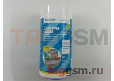 Салфетки Defender чистящие влажные CLN30320 для экранов в тубе(100шт), ЭКО (30320)