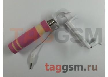 Палка для селфи (монопод) Mini monopod, розовый