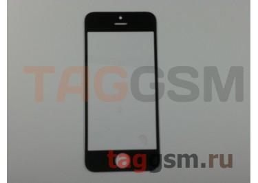 Стекло для iPhone 5 / 5C / 5S (черный), (олеофобное покрытие) ААА