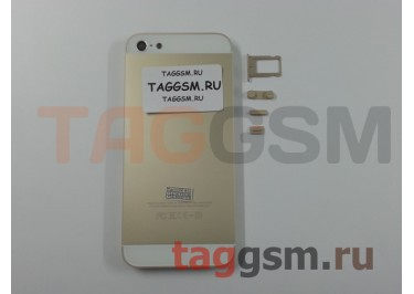 Задняя крышка для iPhone 5 (золото) ААА