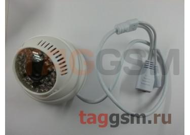Видеокамера купольная 1280x720p 1мп (3,6мм, белый пластик)