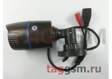 Видеокамера уличная 1280x720p 1мп (3,6мм, черный пластик)