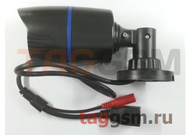 Видеокамера уличная 1920x1080p 2мп (3,6мм, черный пластик)