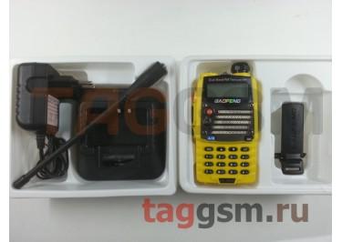Радиостанция носимая (рация) Baofeng UV-5RA+ (желтая) (136-174MHz / 400-520MHz)