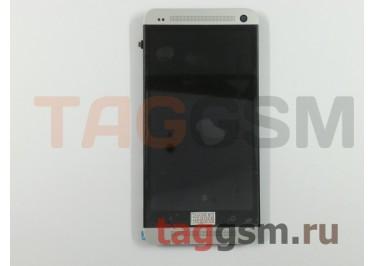 Дисплей для HTC One (M7 /  801e) 32GB + тачскрин (64,4x116,6mm) + белая рамка
