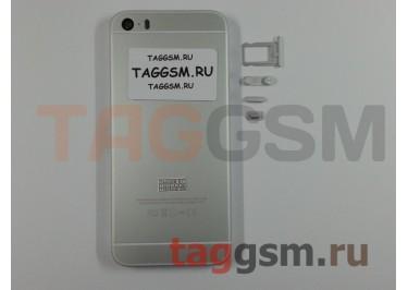Задняя крышка для iPhone 5S (серебро) (дизайн iPhone 6)