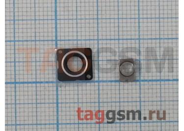 Стекло задней камеры + вспышки для iPhone 5 (белый)