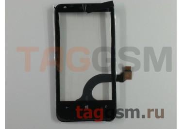 Тачскрин для Nokia 620 (черный) + рамка, Rev.1