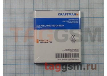 АКБ CRAFTMANN для Alcatel ONE TOUCH  997D 1800mAhLi-ion