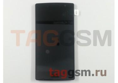 Дисплей для LG H502 Magna в рамке + тачскрин (черный)