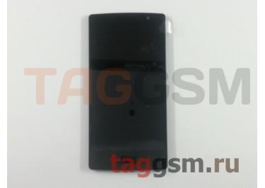 Дисплей для LG H422 Spirit в рамке  + тачскрин (черный)