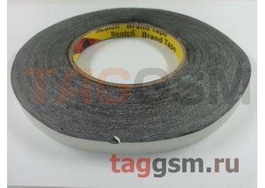 Скотч 3M двухсторонний 50м х 10мм (черный), High Copy