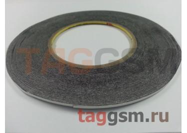 Скотч 3M двухсторонний 50м х 2мм (черный), High Copy