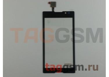 Тачскрин для Sony Xperia C (C2305) (черный), ориг