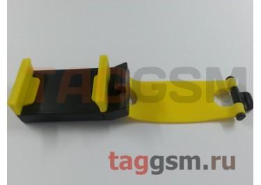 Автомобильный держатель телефона на руль, желтый