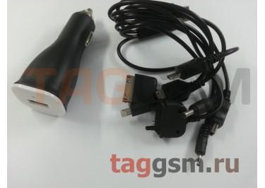 Автомобильное зарядное устройство USB + USB кабель на 10 разъемов, Provoltz