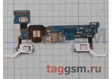 """Шлейф для Samsung A700F Galaxy A7 + разъем зарядки + разъем гарнитуры + микрофон + кнопка """"Home"""""""