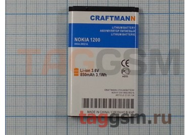 АКБ CRAFTMANN для Nokia 1200 (BL-5CA) 850 mAh Li-ion