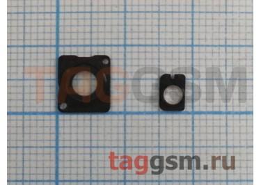 Стекло задней камеры + вспышки для iPhone 5 (черный)