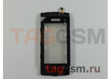 Тачскрин для Nokia 5250 (черный) с рамкой, ориг
