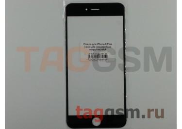 Стекло для iPhone 6 Plus (черный), (олеофобное покрытие) ААА