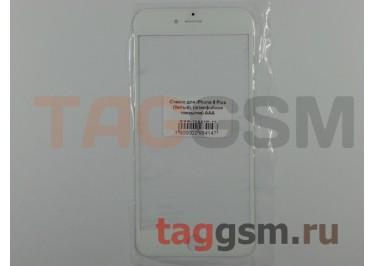 Стекло для iPhone 6 Plus (белый), (олеофобное покрытие) ААА