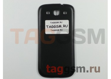 Задняя крышка для Samsung i9300 (черный) кожаная