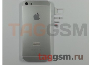 Задняя крышка для iPhone 5 (серебро) (дизайн iPhone 6)