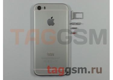 Задняя крышка для iPhone 5S (серебро) (дизайн iPhone 6) усиленный корпус