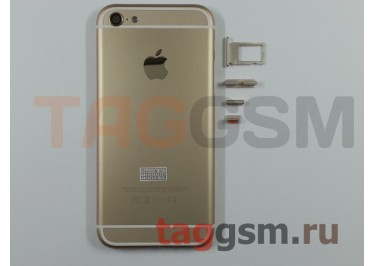 Задняя крышка для iPhone 5 (золото) (дизайн iPhone 6) усиленный корпус