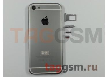 Задняя крышка для iPhone 5 (серый) (дизайн iPhone 6) усиленный корпус